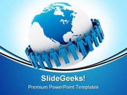 Global Team Business PowerPoint Backgrounds And Templates 0111