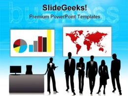 Global Team Business PowerPoint Templates And PowerPoint Backgrounds 0611