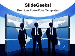 Global Team Business PowerPoint Templates And PowerPoint Backgrounds 0811
