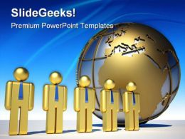 Global Team Globe PowerPoint Templates And PowerPoint Backgrounds 0611