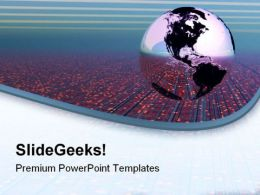 Global Technology Globe PowerPoint Templates And PowerPoint Backgrounds 0611