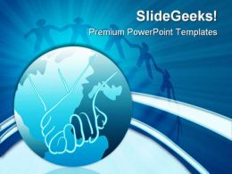 Global Unity Globe PowerPoint Templates And PowerPoint Backgrounds 0511