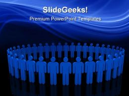 Global Unity Success PowerPoint Templates And PowerPoint Backgrounds 0611