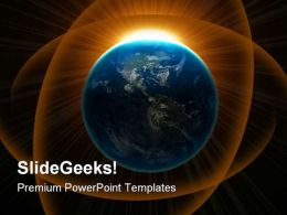 Globe Earth PowerPoint Template 0510