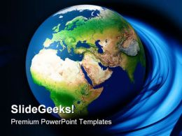Globe Earth PowerPoint Template 0910