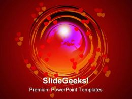 Globe Help PowerPoint Template 0810