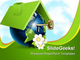 Globe House With Key Realestate PowerPoint Templates And PowerPoint Backgrounds 0211