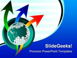 Globe With Arrows Business PowerPoint Templates And PowerPoint Backgrounds 0111
