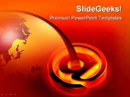 Glowing At Symbol Globe PowerPoint Templates And PowerPoint Backgrounds 0611