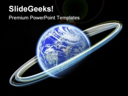 Glowing Earth PowerPoint Templates And PowerPoint Backgrounds 0611