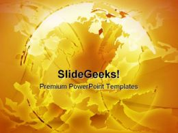 Glowing International Globe Abstract PowerPoint Templates And PowerPoint Backgrounds 0311
