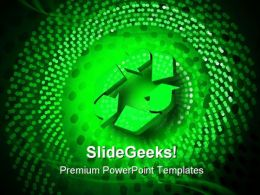 Glowing Recycle Spiral Environment PowerPoint Templates And PowerPoint Backgrounds 0611