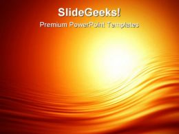 Glowing Sunset Abstract PowerPoint Templates And PowerPoint Backgrounds 0611