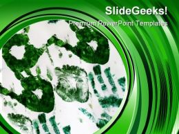 Go Green Recycle Nature PowerPoint Template 0610