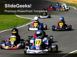 Go Kart Race Sports PowerPoint Templates And PowerPoint Backgrounds 0711