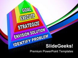 Goal Execute Business PowerPoint Templates And PowerPoint Backgrounds 0811