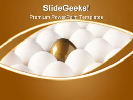 Golden Egg Leadership PowerPoint Templates And PowerPoint Backgrounds 0411