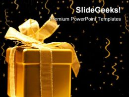 Golden Gift Festival PowerPoint Templates And PowerPoint Backgrounds 0311