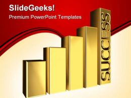 Golden Graph Success PowerPoint Templates And PowerPoint Backgrounds 0511