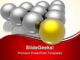 Golden Leader Leadership PowerPoint Templates And PowerPoint Backgrounds 0611