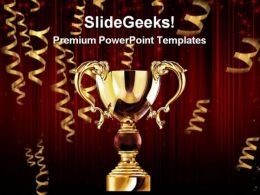 Golden Trophy Cup Success PowerPoint Templates And PowerPoint Backgrounds 0311