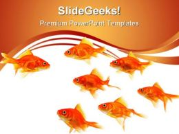 Goldfish Leader Leadership PowerPoint Templates And PowerPoint Backgrounds 0511