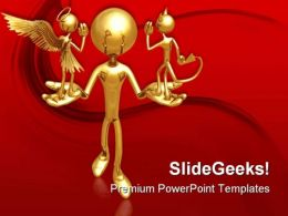 Good Or Evil Metaphor PowerPoint Templates And PowerPoint Backgrounds 0411