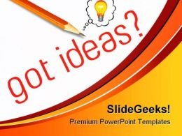 Got Ideas Business PowerPoint Template 0810