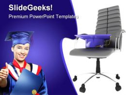 Graduate On Office Chair Business PowerPoint Template 1110
