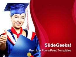 Graduate Student Education PowerPoint Template 1010