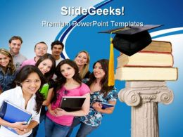 Graduation01 Education PowerPoint Template 1110