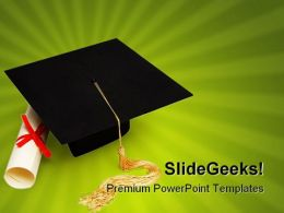 Graduation Education PowerPoint Backgrounds And Templates 1210
