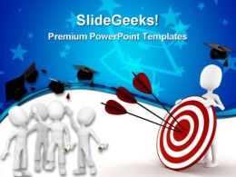 Graduation Target Education PowerPoint Templates And PowerPoint Backgrounds 0311
