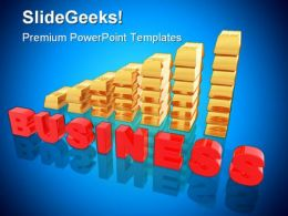 Graph Business PowerPoint Background And Template 1210
