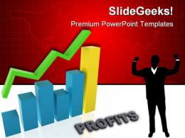 Graph Showing Profits Business PowerPoint Templates And PowerPoint Backgrounds 0511