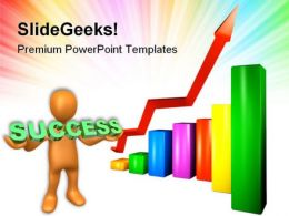 Graph Showing Success Business PowerPoint Templates And PowerPoint Backgrounds 0611