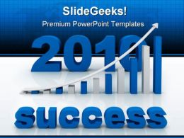 Graph Success PowerPoint Template 0810
