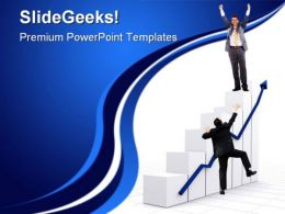 Graph With Success Concept Business PowerPoint Templates And PowerPoint Backgrounds 0611