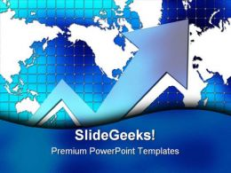 Graph With World Map Business PowerPoint Templates And PowerPoint Backgrounds 0611