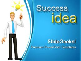 Great Idea Success PowerPoint Templates And PowerPoint Backgrounds 0211