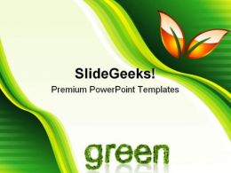 Green Abstract Environment PowerPoint Templates And PowerPoint Backgrounds 0611