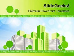 Green City Environment PowerPoint Templates And PowerPoint Backgrounds 0511