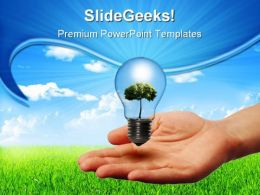 Green Energy Concept Nature PowerPoint Templates And PowerPoint Backgrounds 0211