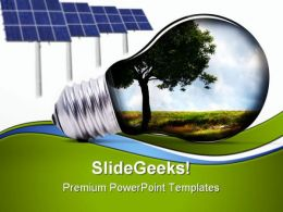 Green Energy Environment PowerPoint Templates And PowerPoint Backgrounds 0811