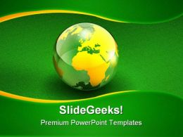 Green Globe01 PowerPoint Template 1110