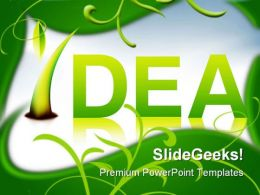 Green Idea Grows Nature PowerPoint Templates And PowerPoint Backgrounds 0211