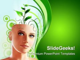 Green Idea Nature PowerPoint Templates And PowerPoint Backgrounds 0111