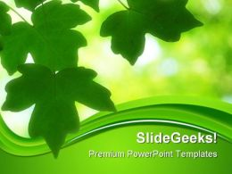 Green Leaves01 Nature PowerPoint Templates And PowerPoint Backgrounds 0411