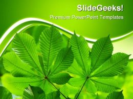 Green Leaves01 Nature PowerPoint Templates And PowerPoint Backgrounds 0511