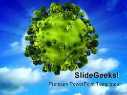 Green Planet Earth Global PowerPoint Backgrounds And Templates 0111